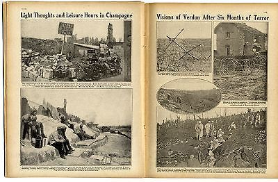 1916 WW1 Magazine SOMME Thiaumont GERMAN AFRICA Egypt WAR ROLL HONOUR DEAD (7010
